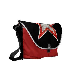 ロックスターのバッグ(黒い背景) メッセンジャーバッグ