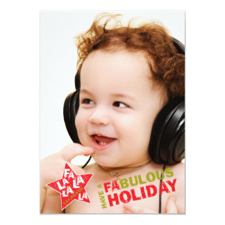 ロックスターの休日の写真カード- FaのLaのLaの歌うこと カード