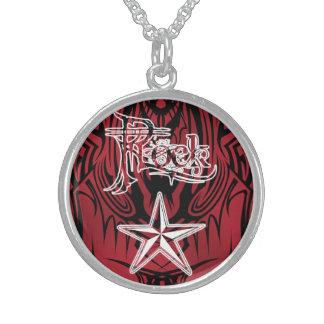ロックスターの赤い種族の純銀製のネックレス スターリングシルバーネックレス