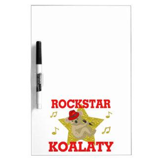ロックスターのKoalatyの歌うパーティー好きな人 ホワイトボード