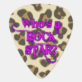 ロックスターはだれですか。 私はあります。 -ヒョウのピンク ギター つめ