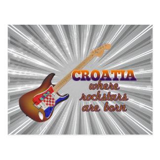 ロックスターはクロアチアで生まれます ポストカード