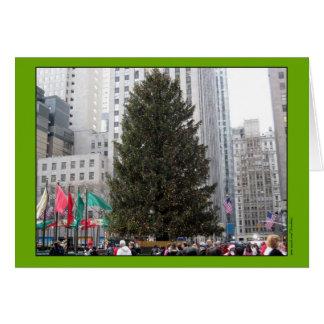 ロックフェラーの中心のクリスマスツリー カード