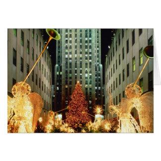 ロックフェラーの中心のクリスマス カード