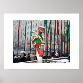 ロックフェラーの中心のクリスマス ポスター