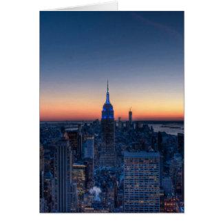 ロックフェラーの中心の上からのニューヨークシティ カード