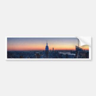 ロックフェラーの中心の上からのニューヨークシティ バンパーステッカー