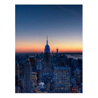 ロックフェラーの中心の上からのニューヨークシティ ポストカード