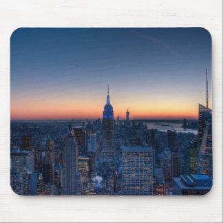 ロックフェラーの中心の上からのニューヨークシティ マウスパッド