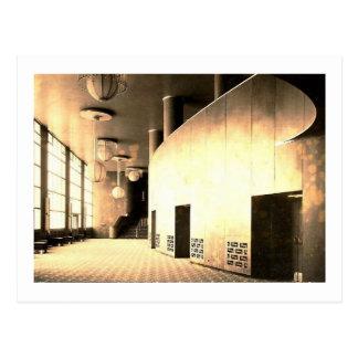 ロックフェラーの中心、劇場のロビー、ニューヨークシティ ポストカード