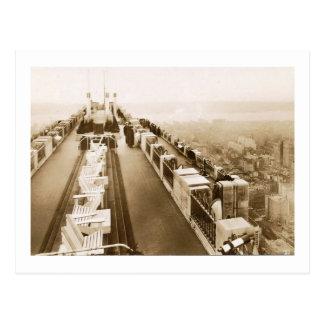 ロックフェラーの中心、屋上、ニューヨークシティのヴィンテージ ポストカード