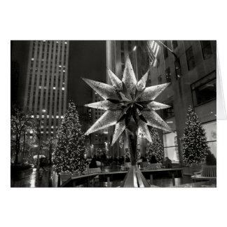 ロックフェラーの広場の水晶星カード カード