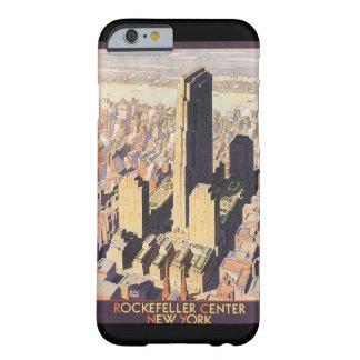 ロックフェラー中心のニューヨークのヴィンテージ旅行ポスター BARELY THERE iPhone 6 ケース