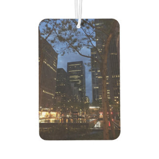 ロックフェラー中心のニューヨークシティNYCの写真の夜明け カーエアーフレッシュナー
