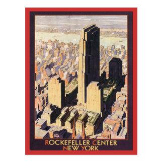 ロックフェラー中心のニューヨーク ポストカード