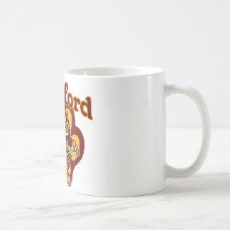 ロックフォードのバッタおよびとても小さい人のフットボール コーヒーマグカップ