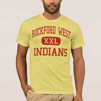 ロックフォードの西の-インディアン-中間-ロックフォード Tシャツ