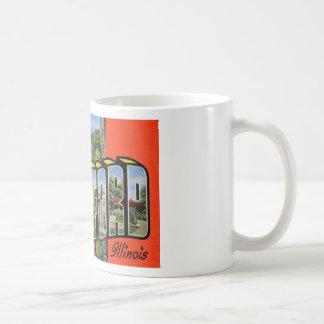 ロックフォードイリノイからの挨拶 コーヒーマグカップ
