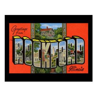 ロックフォードイリノイからの挨拶 ポストカード