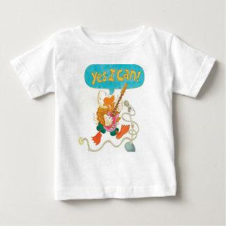ロックンロールのアヒルは宣言します: YES Iはできます!! ベビーTシャツ