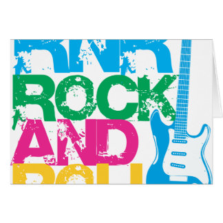 ロックンロールのギターの組合せ色 カード