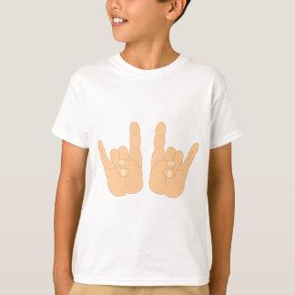 ロックンロール手の印 Tシャツ