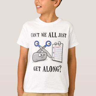 ロック紙はさみ Tシャツ