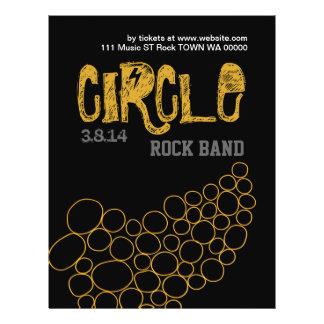 ロック・バンドの円音楽ミュージシャンのフライヤの招待状 チラシ