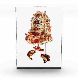 ロッジのハト時計の採取 表彰盾