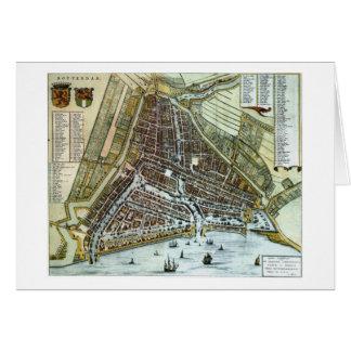 ロッテルダムのヴィンテージ都市地図 カード
