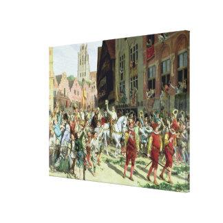 ロッテルダムの勝利の到着 キャンバスプリント