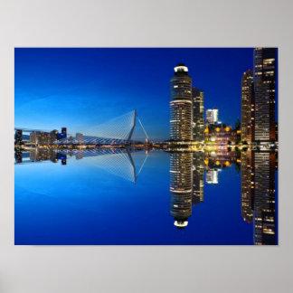 ロッテルダムの景色の写真 ポスター