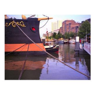 ロッテルダムの歴史的な船、Buffelの王室のなヨット ポストカード