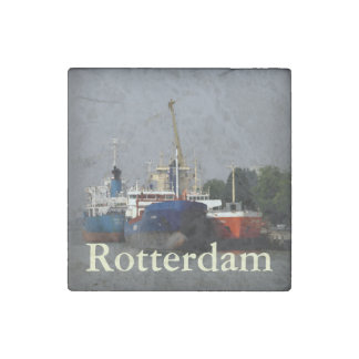 ロッテルダムの港 ストーンマグネット