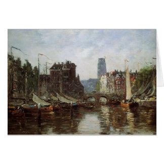 ロッテルダムのEugene Boudin著Le Pont deの取引所 カード