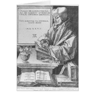 ロッテルダム1526年のデジデリウス・エラスムス カード
