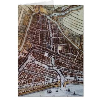 ロッテルダム1652年のレプリカ都市地図 カード