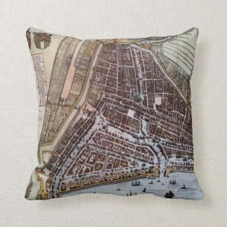 ロッテルダム1652年のレプリカ都市地図 クッション
