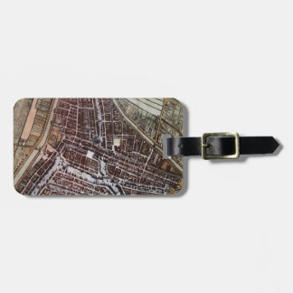 ロッテルダム1652年のレプリカ都市地図 ラゲッジタグ