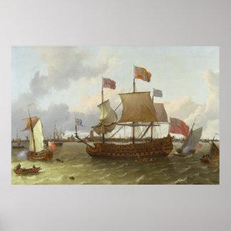 ロッテルダム1698年の3マスター「Britannia」 ポスター