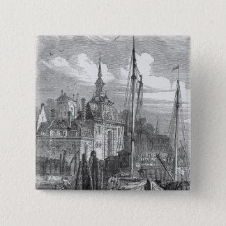 ロッテルダム、オランダの港 5.1CM 正方形バッジ