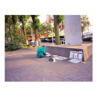 ロッテルダム、通りの芸術家 ポストカード