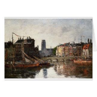 ロッテルダム、Eugene Boudin著Pont de la Bourse カード