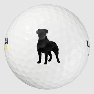 ロットワイラーのシルエット ゴルフボール