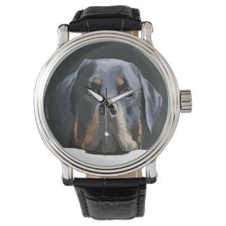 ロットワイラーのポートレートのベクトル 腕時計
