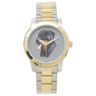 ロットワイラーのポートレート 腕時計