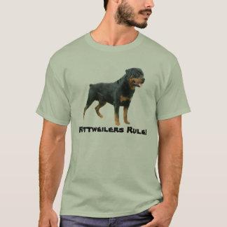 ロットワイラーのユニセックスなTシャツ Tシャツ