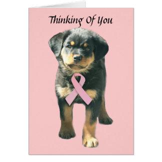 ロットワイラーの乳癌の挨拶状 カード