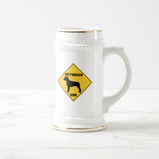 ロットワイラーの交差(XING)の印 ビールジョッキ