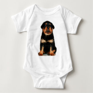 ロットワイラーの子犬のベビー ベビーボディスーツ